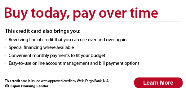 Financing with Wells Fargo Available